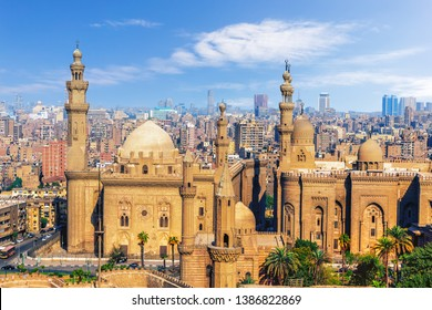 The Mosque-Madrassa of Sultan Hassan, view from the Citadel of Cairo, Egypt