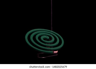 A mosquito coil is a mosquito-repelling incense, usually made into a spiral, and typically made using dried paste of pyrethrum powder.