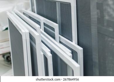 Mosquito Net Frames Set for PVC Window Screens