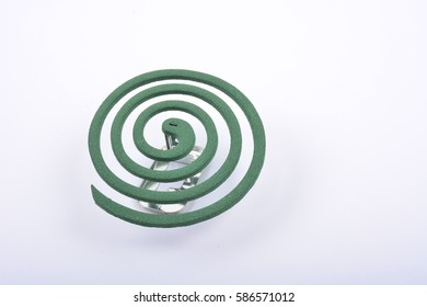 Mosquito repellent coil isolated on white background