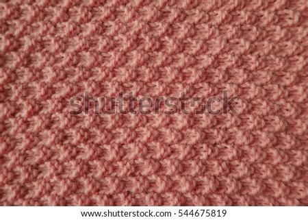 Moss Stitch Knitting Background Pastel Pink Stock Photo Edit Now