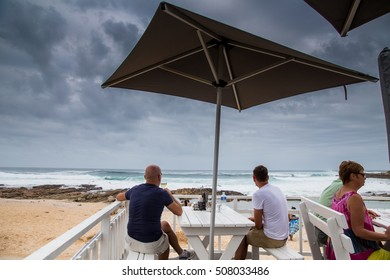 Mossel Bay - South Africa, 27 JANUARY 2015: Younge couple look at the beach
