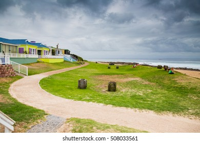 Mossel Bay - South Africa, 27 JANUARY 2015: Stop in Mossel Bay and walk on the promenade while traveling on the garden route.