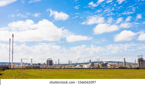 Mossel Bay, South Africa - March 14 2019: Petro SA Natural Gas processing and refining plant - a State owned Enterprise
