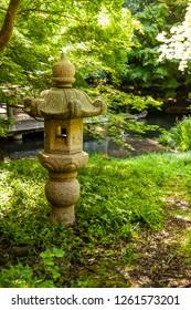 Mossy stone pagoda