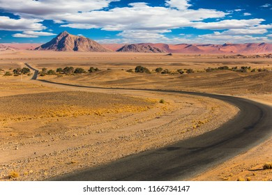 The most ancient desert in the world is Namib. The famous giant sand dunes in Namib-Naukluft park. 
