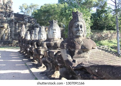 The most beautiful Angkora parks, the Improbable jungle which occupied ancient temples. Siem Reap Cambodia. Angkor Wat wonder of the world. The most beautiful temples of Cambodia
