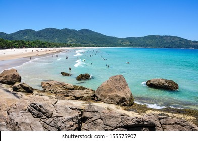 The most beautiful beach of the island, Lopes Mendes at Ilha Grande, Rio do Janeiro, Brazil.