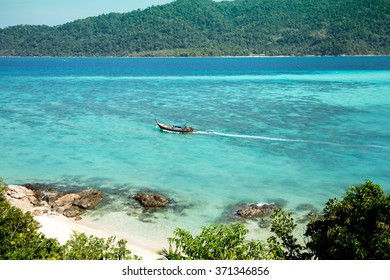 The most beautiful beach in Lipe, southern Thailand.