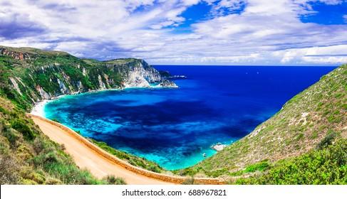 most beautiful beaches of Greece - Petani in Kefalonia. Ionian islands