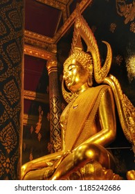 The most Beautiful Buddha image in Thailand, phra Chinnarat Buddha image , situated in war phra si rattan mahathat temple , Phitsanulok Province ,Thailand