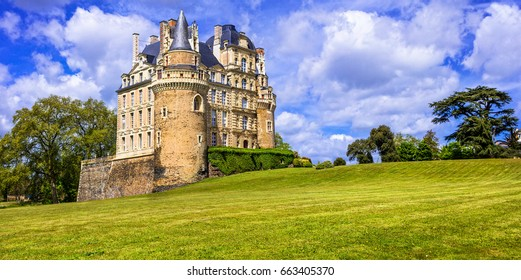 Most beautiful castles of France series -Chateau de Brissac in Loire valley