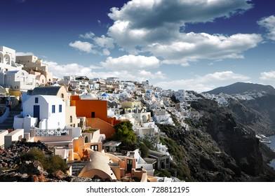 The most beautiful Greek island. Heaven island. Perfect naturalness. Greece.