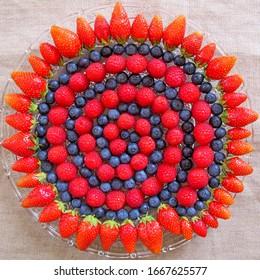 Most beautiful mandala fruit on the plate.
