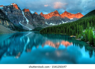 The most beautiful moraine lake in canada