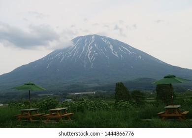 The most beautiful mountain in Hokkaido province Japan. Little fuji or Mt.Ezo fuji .