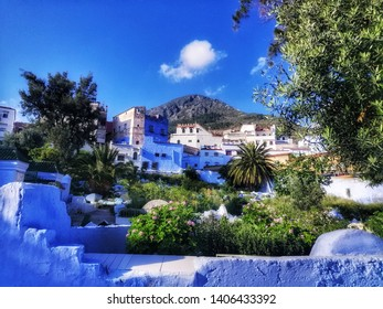 The most beautiful nature of Chefchaouen in the Atlas Mountains of northern Morocco