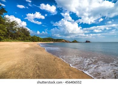 The most beautiful Om beach near Gokarna town in India