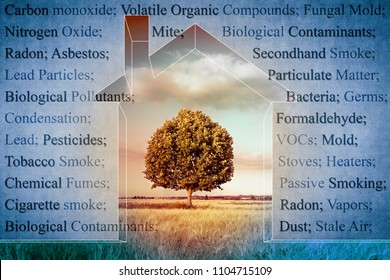 The most common dangerous domestic pollutants we can find in our homes - concept image