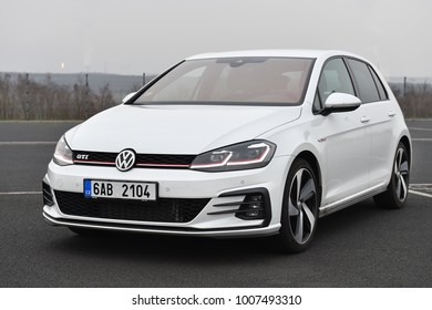 MOST, CZECH REPUBLIC - MARCH 23, 2017: Volkswagen Golf GTI in Most, Czech republic, March 23, 2017.