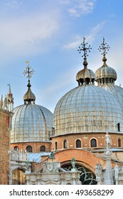The most famous church in Venice called San Marco, Italy.