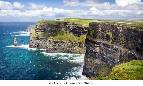 Most famous Cliffs of Moher in Ireland