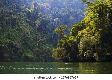The most famous and important river of Guatemala: the Rio Dulce, central america