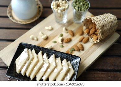 Most famous Indian sweet made up of Cashew nuts and sugar. This sweet will be present in all the functions and festivals.