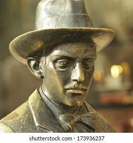 Most famous monuments in Lisbon - Fernando Pessoa - poet