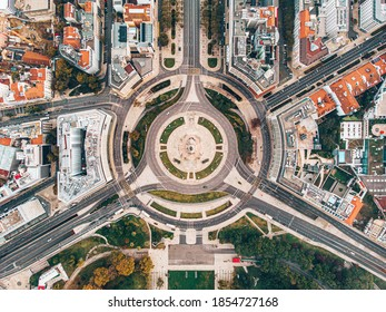The most iconic roundabout in Lisbon, Portugal | Marquês de Pombal