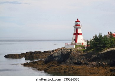 """The most interesting and Attractive for tourists Light House (museum) named """"Head Habour Lightstation"""" on Campobello Island situated in Bay of Fundy New Brunswick Canada"""