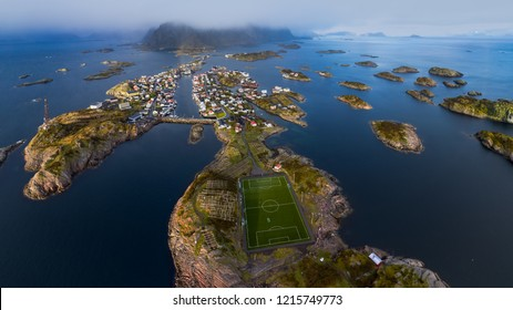 Most remote soccer ground in the world - on Henningsvaer islands