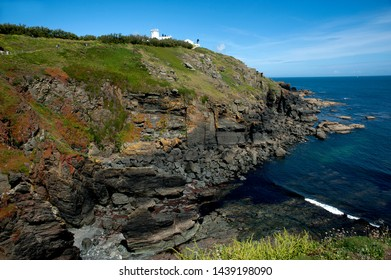 The most southerly point of Britain: the rugged coastline at Lizard Point Cornwall, England.