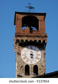 Most towers in Lucca were demolished centuries ago, but this one, Torre delle Ore, probably owes its survival to the fact that it has contained a public clock for centuries.
