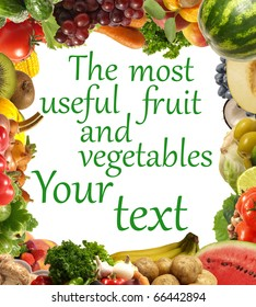 The most useful fruit and vegetables
