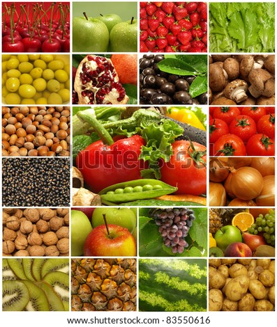 Most Useful Fruit Vegetables Stock Photo (Edit Now) 83550616