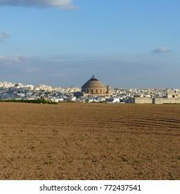 Mosta, Malta / Malta - November 2017: Rotunda of Mosta in Malta