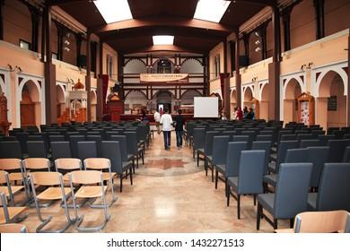 Mostar / Bosina and Herzegovina - 04 May 2018: The town hall in Travnik, Bosnia and Herzegovina
