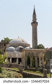 Mostar, Bosnia and Herzegovina - August 12, 2019: Nesuh-Aga Vucjakovic Mosque