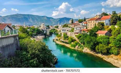 Mostar, Bosnia and Herzegovina. View of the city.
