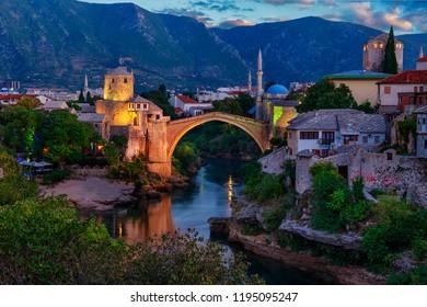 Mostar Bridge Stari Most,  Bosnia and Herzegovina