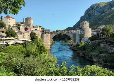 Mostar Old Bridge in summer day, Bosnia And Herzegovina