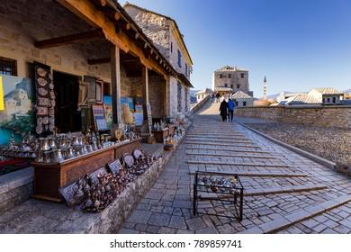 Mostar,Bosnia and Herzegovina - 12.03.2017  - Streets of Mostar