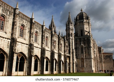 Mosteiro dos Jeronimos (monastery of Hieronymites) in Lisbon (Portugal) - the most grandiose example of portuguese gothic style known as 'manuelino'