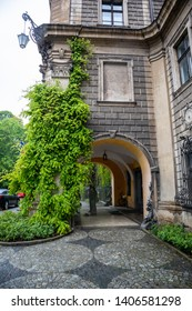 Moszna / Poland - may 09 2019: Moszna Castle located in a Moszna village, Upper Silesia, Poland