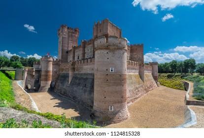 Mota castle in Medina del Campo, Spain