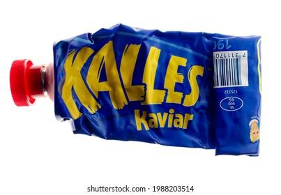 MOTALA, SWEDEN- 1 FEBRUARI 2009: Kalles kaviar is a Swedish brand of smörgåskaviar. Foto Jeppe Gustafsson