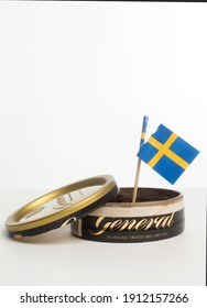 MOTALA, SWEDEN- 6 APRIL 2014: General loose snuff a snuff from Swedish Match. Photo Jeppe Gustafsson