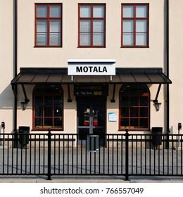 MOTALA, SWEDEN - JULY 8, 2013. Motala central railway station in Sweden