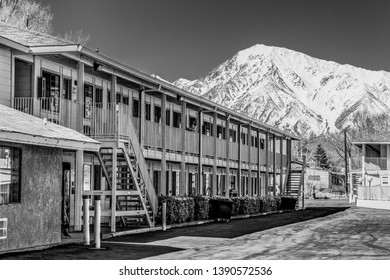 Motel 6 in the town of Bishop California - BISHOP, UNITED STATES OF AMERICA - MARCH 29, 2019